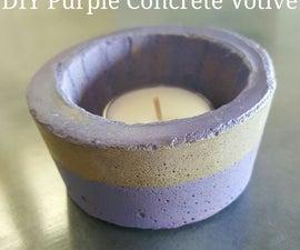 DIY Purple Concrete Votives