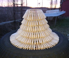 Clothespin Mobile Lampshade