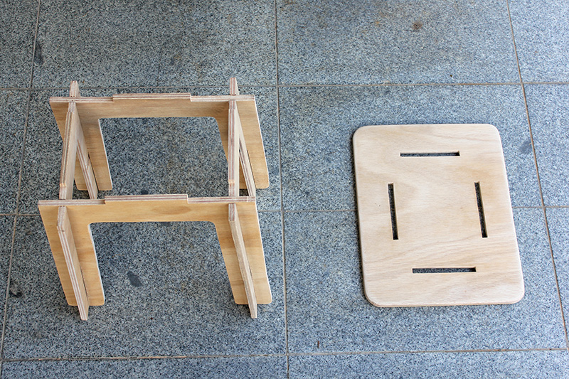 Picture of Assembling the Stool