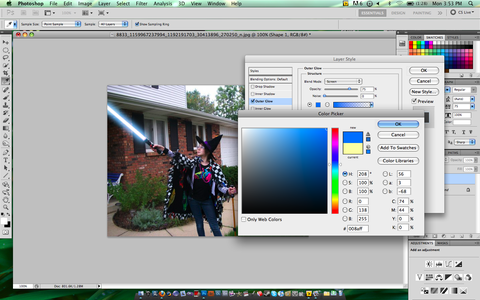 The Lightsaber Effect in Photoshop