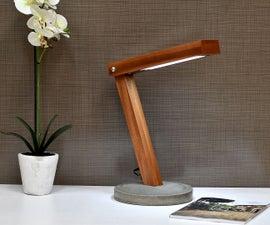 LED Concrete Desk Lamp