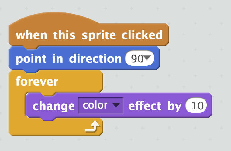 "Picture of Use ""when This Sprite Clicked"" Block"