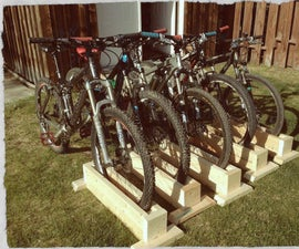 Scrap Wood Bike Stand (self supporting)