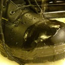 Waterproof boots with beeswax