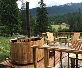 DIY Wood Fired Cedar Hot Tub
