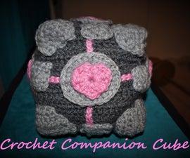 Crochet Companion Cube Pillow