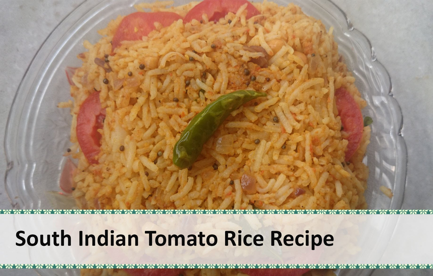 Picture of South Indian Tomato Rice Recipe