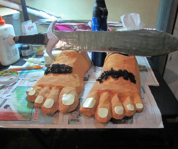 Hobbit Feet Costume