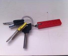 easy lego block key chain