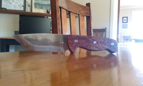 Knife With Burl Handle