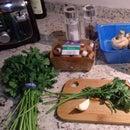 Champiñones al cilantro // mushrooms and coriander