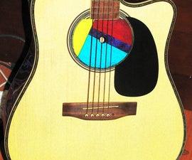 Make a CD/DVD Guitar Sound Hole Cover