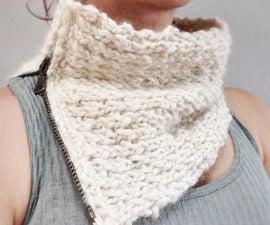 Add a zipper to a knit cowl...