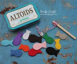 Pocket Sized Magnetic Fishing Set in Altoid tin!