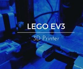 3D Printer With Lego EV3