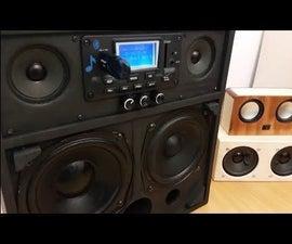 Powerful 2.1 Portable Loud Boombox