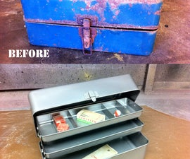 Restore a rusty old tackle box with sand blasting & powder coating