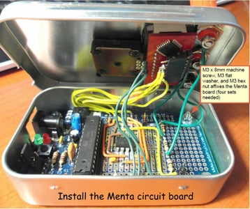 Install the Menta Circuit Board