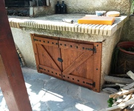 BBQ Firewood Cabin Doors