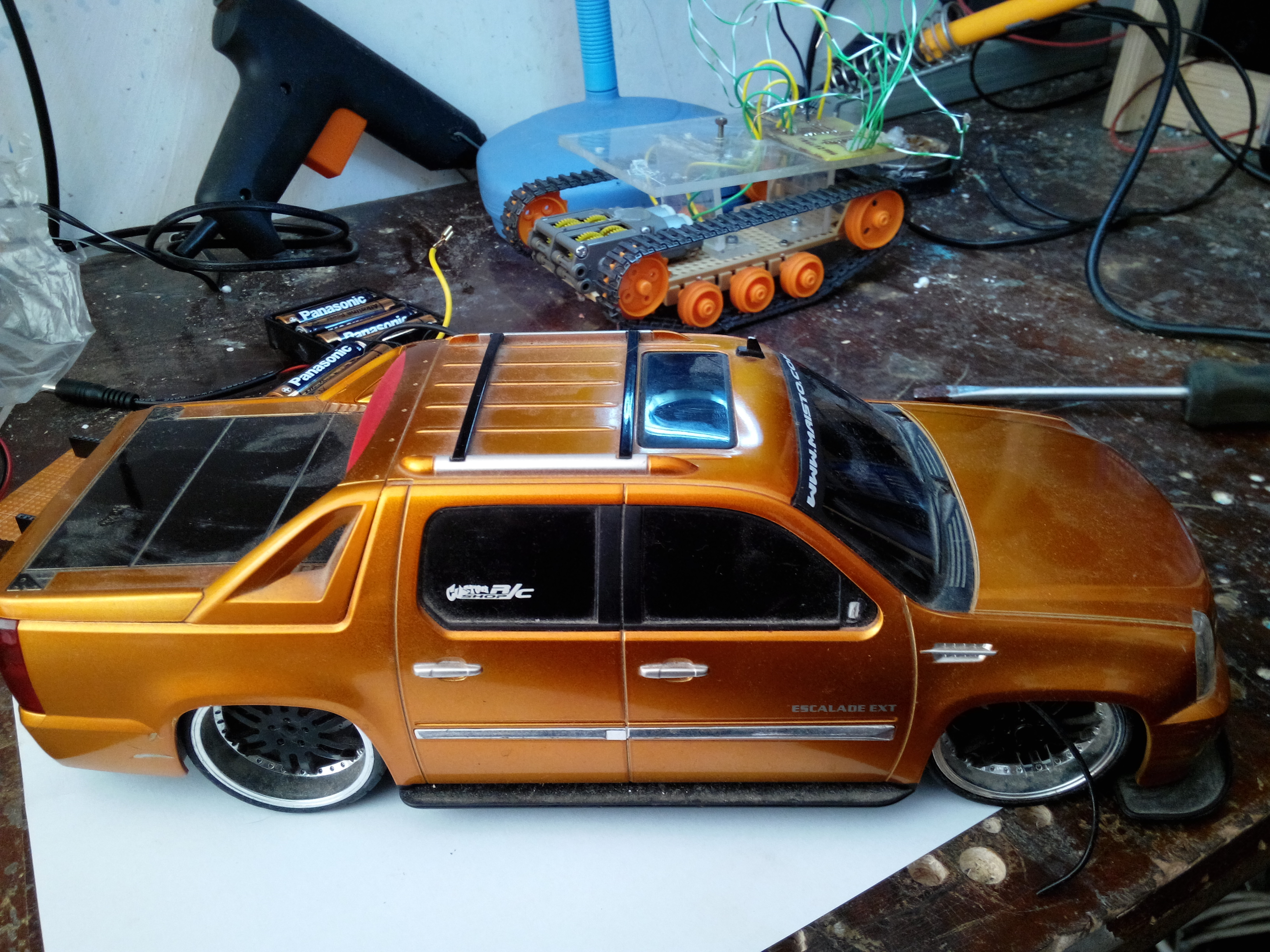 Picture of RC Car to Obstacle Avoiding Robot