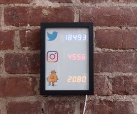 Social Stats Tracker Display With ESP8266