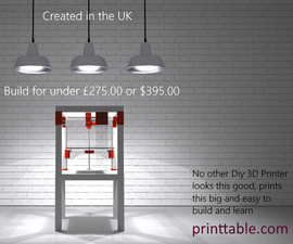 PRINTTABLE the Affordable, Attractive IKEA Lack Table Hack to create a 3D Printer