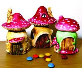 Mushroom Fairy Houses Out Of Cute Little Jars