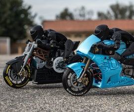 3d Printed RC Motorcycles: 2016 Ducati Draxter and 2016 Suzuki GSX-RR MotoGP