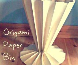 origami paper bin