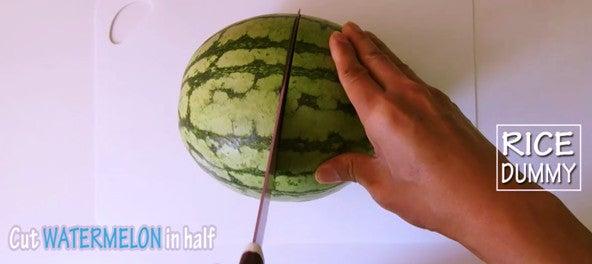 Step 1: Cut Watermelon