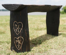 """""""The Giving Tree"""" Power Carved Log Bench"""