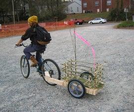 Simple Wood and Bamboo Bike Trailer