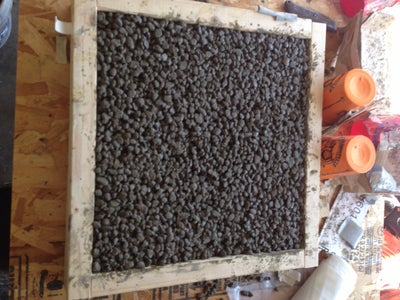 Pack Form and Let Concrete Cure