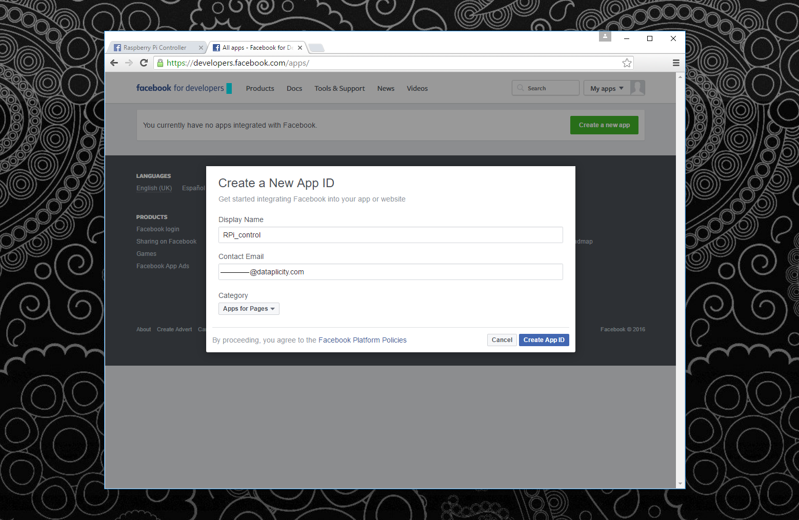 Picture of CREATE a FACEBOOK APP AND SET UP a WEBHOOK