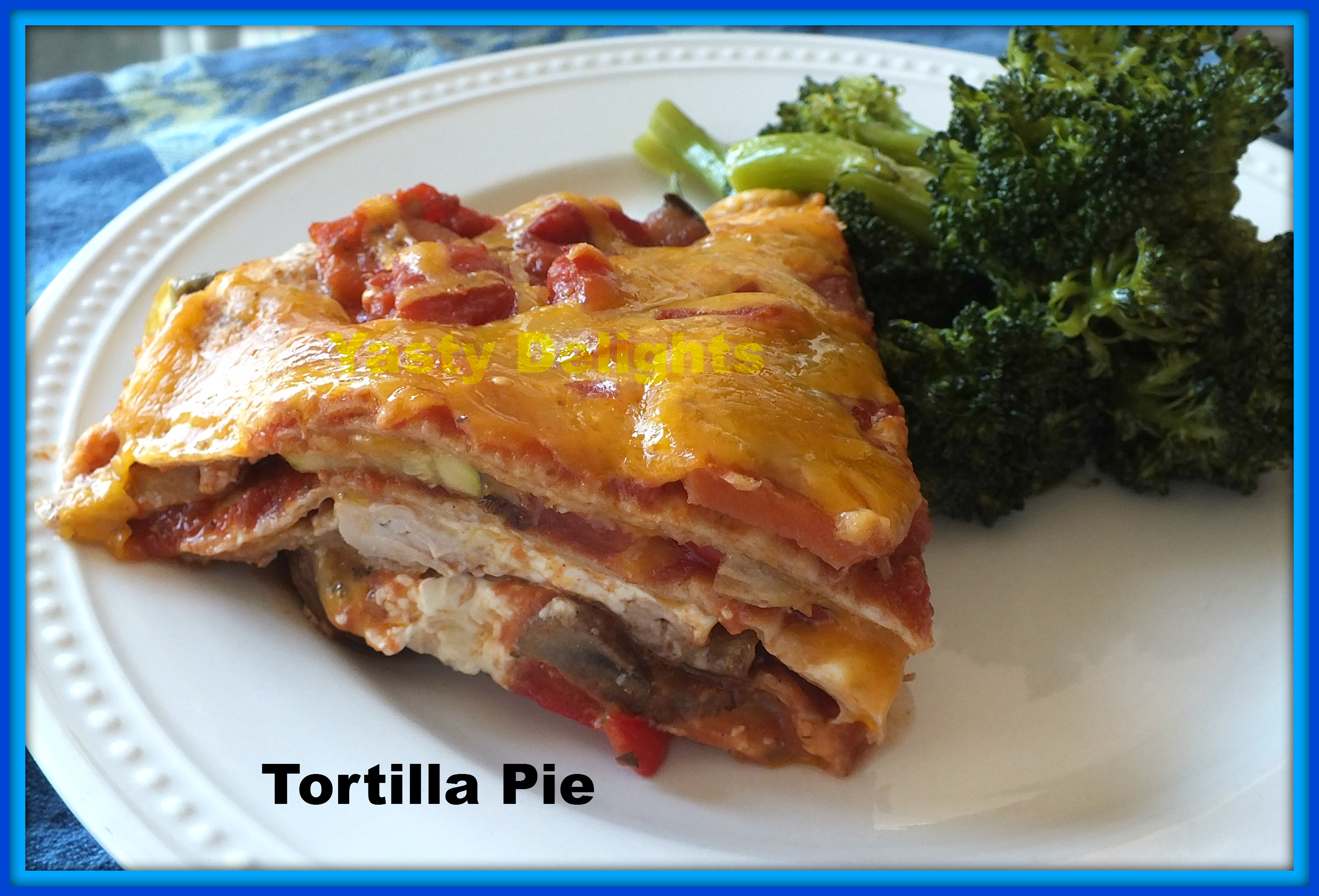 Picture of Roasted Chicken Tortilla Pie