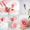 DIY Bridal Bouquet With Fresh and Crepe Paper Flowers
