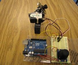 Arduino + 2 Servos + Thumbstick (joystick)
