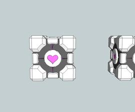 Companion cube stud earrings