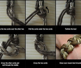 Square knot bracelet instructions
