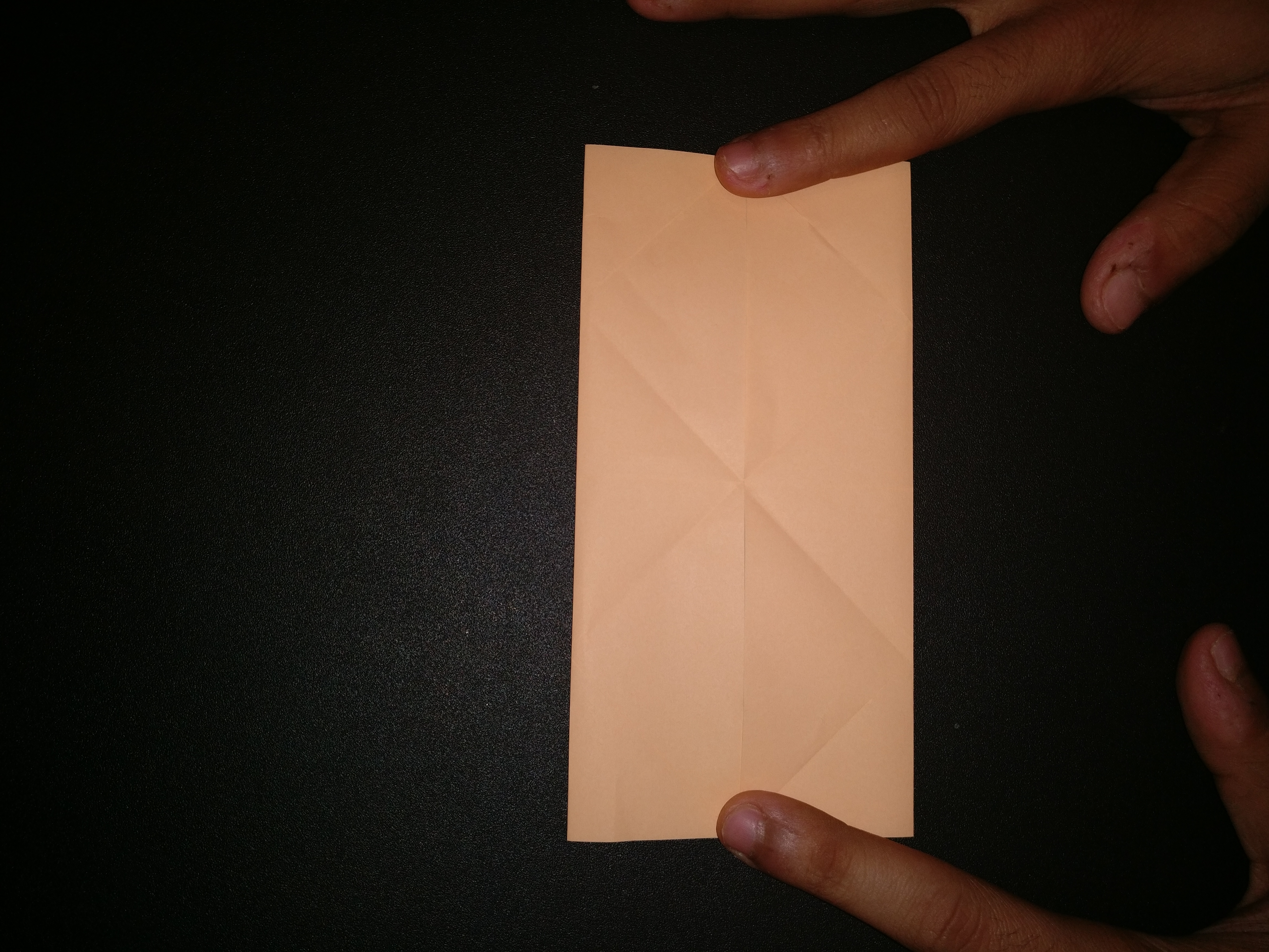 Picture of Rotate the Paper 90 Deg So That You Have Short Edges on Top and Bottom