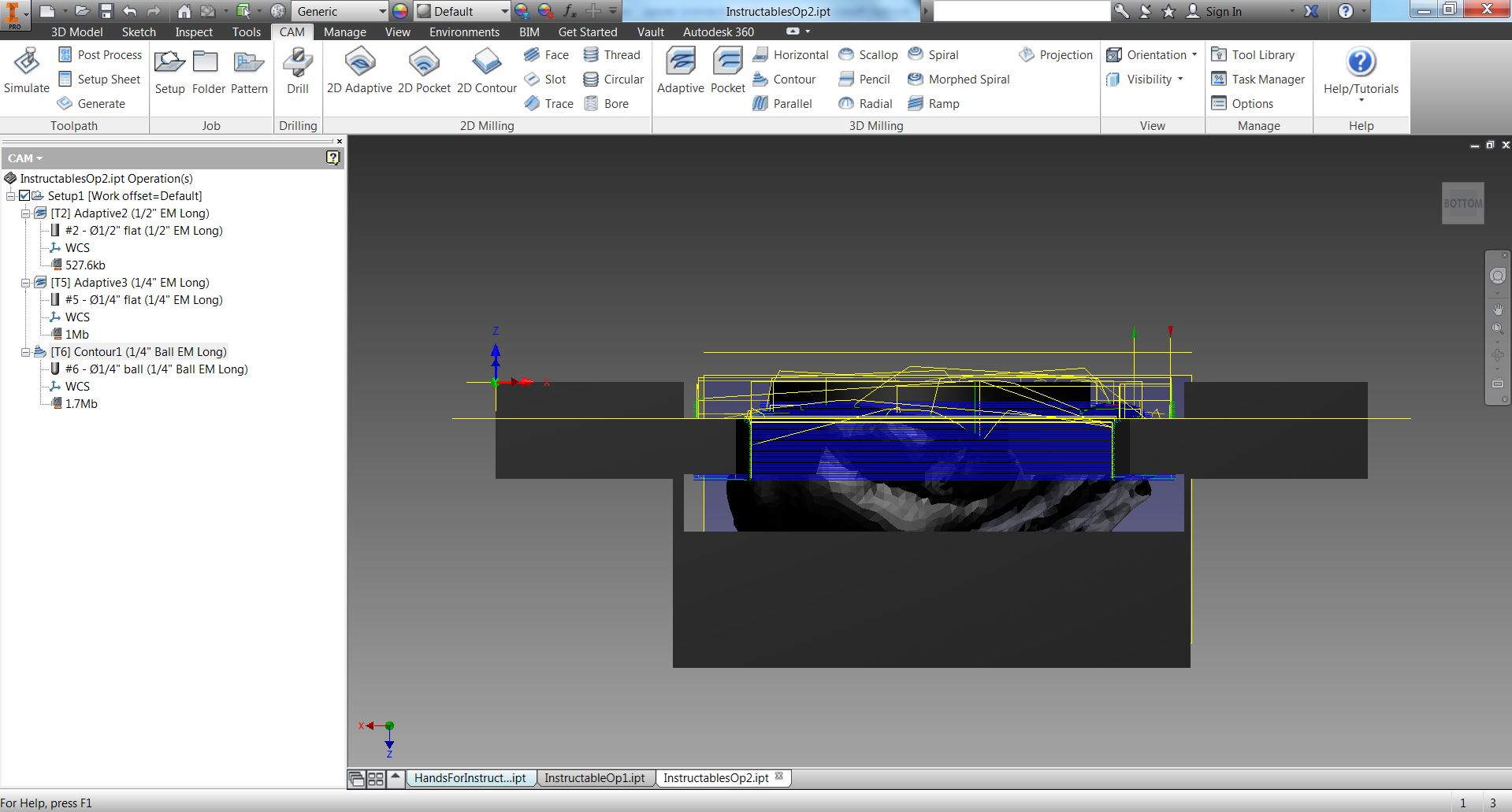 Picture of Use HSM to Prepare Toolpaths