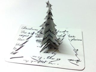 3D DIY Christmas Tree Greeting Card