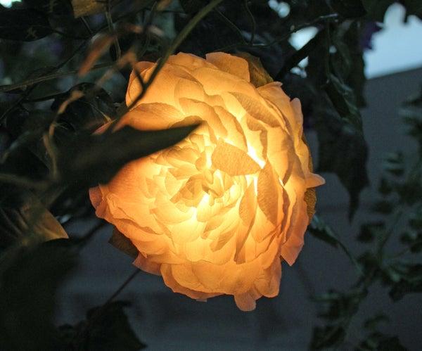 Glowing Paper Flowers