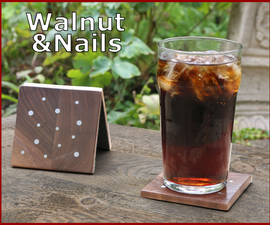 How to Make Drinks Coasters With Nails Inlay