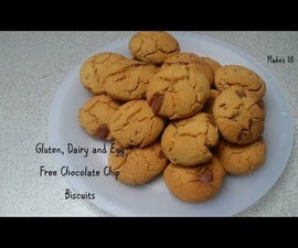 Gluten, Dairy and Egg Free Chocolate Chip Biscuits