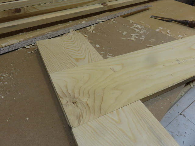 Picture of Making Half Lap Joint to Attach Legs to Mobile Base