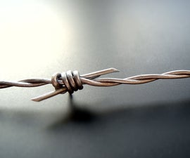 How to Make Fake Barbed Wire With Leather