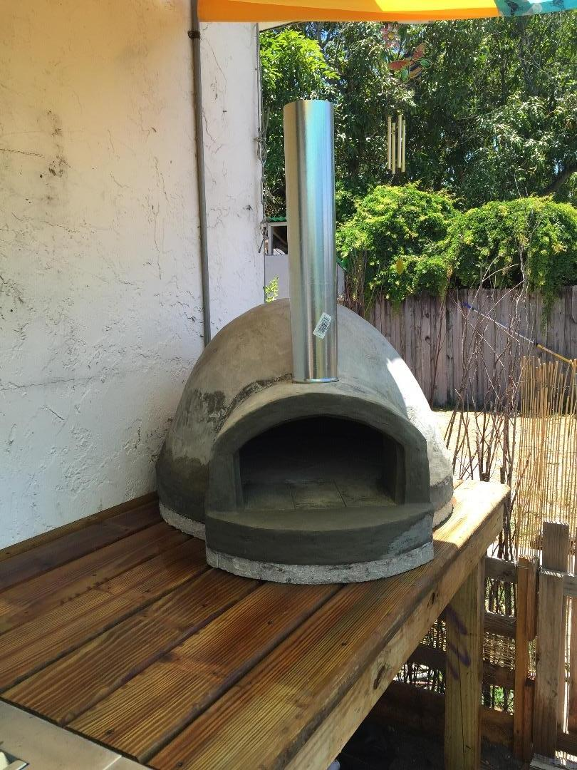 Picture of My $135 Wood Fired Pizza Oven!