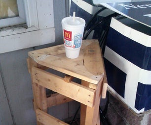 Wood Pallet End Table, From a Single Pallet