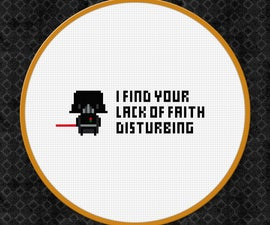 Darth Vader From Star Wars Cross Stitch Pattern Free Download